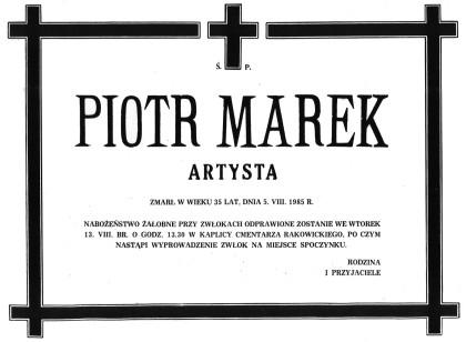 PIOTR MAREK - ARTYSTA